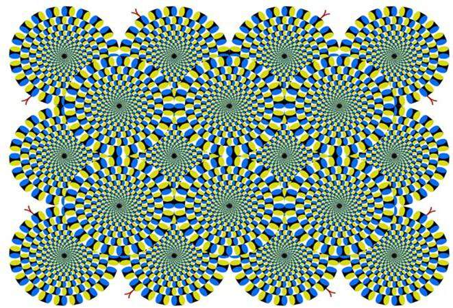 optical illusion wallpapers. optical illusion wallpapers. Illusion: quot;Rotating Snakesquot;